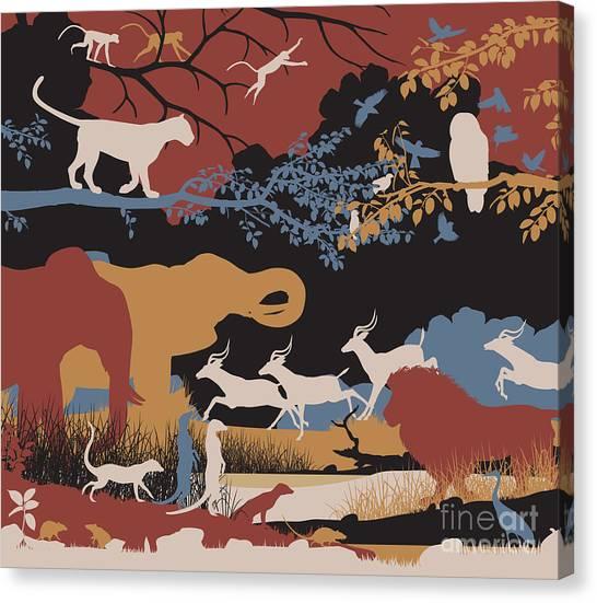 Cutout Canvas Print - Colorful Editable Vector Illustration by Robert Adrian Hillman