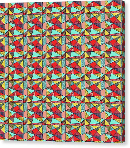Colorful Geometric Abstract Pattern Canvas Print
