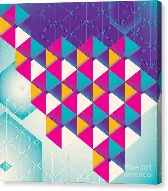 Purple Canvas Print - Colorful Geometric Abstraction. Vector by Radoman Durkovic