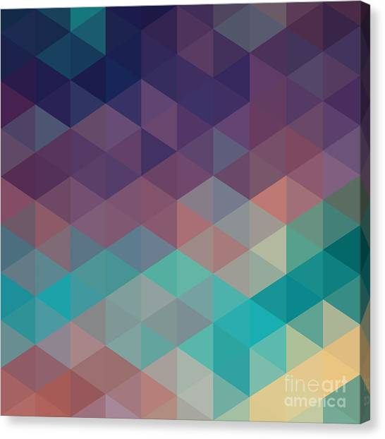 Purple Canvas Print - Colorful Geometric Background With by Olha Kostiuk