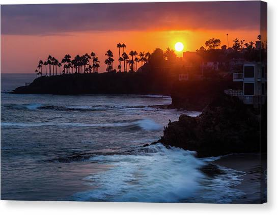 Colorful Laguna Beach Sunset Canvas Print