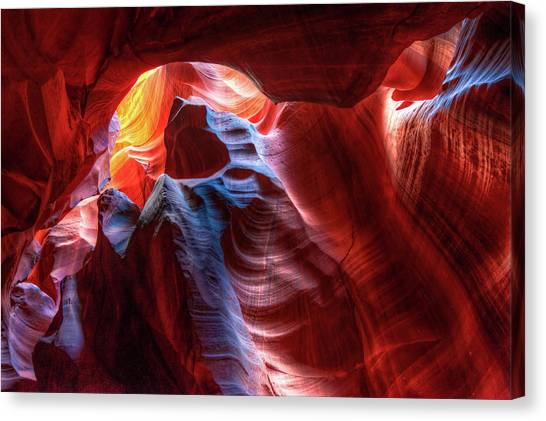 Colorful Layers Of Antelope Canyon Canvas Print