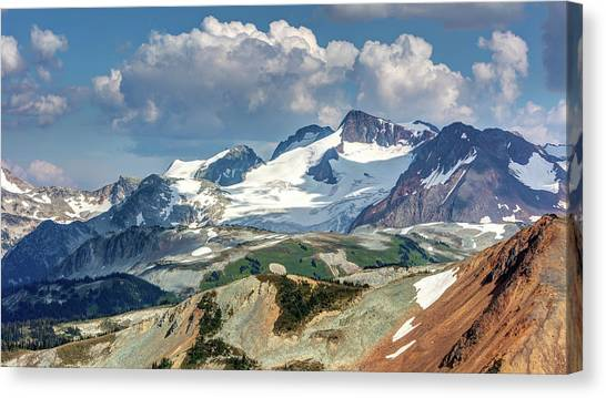 Canvas Print featuring the photograph Colorful Mountain Peaks by Pierre Leclerc Photography