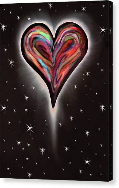 For Better Or For Worse Canvas Print - Colorful Total Eclipse Of The Heart 1 by Her Arts Desire