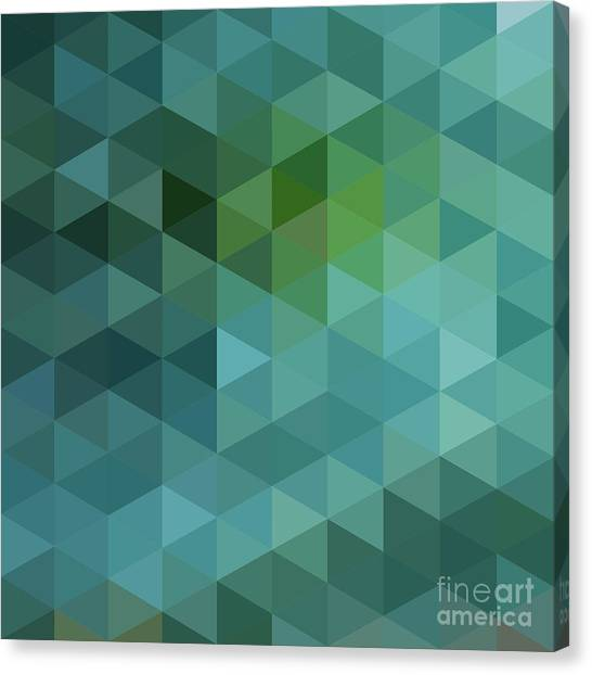 Decoration Canvas Print - Colorful Triangles Background by Max Krasnov