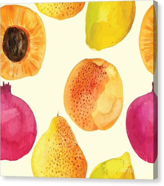 Colorful  Watercolor Vector Fresh Canvas Print by Alexandra Dzh