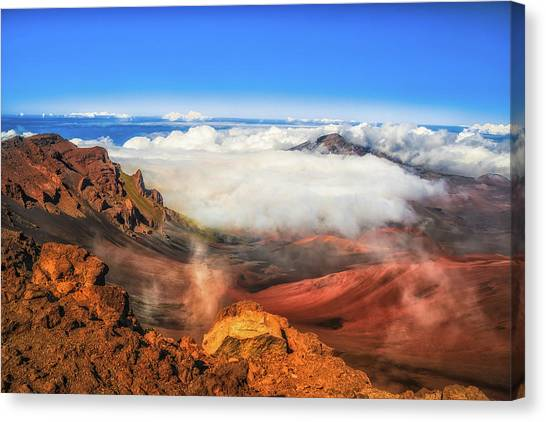 Colors And Clouds Canvas Print by Fernando Margolles