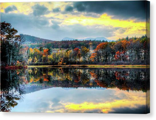 Colors In Fall Canvas Print by Joe Martin A New Hampshire Portrait Photographer
