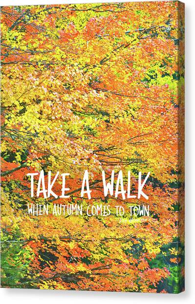 Colors Of Fall Quote Canvas Print by JAMART Photography