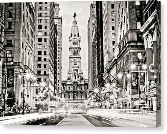 Colors On Broad B/w Canvas Print by Stacey Granger