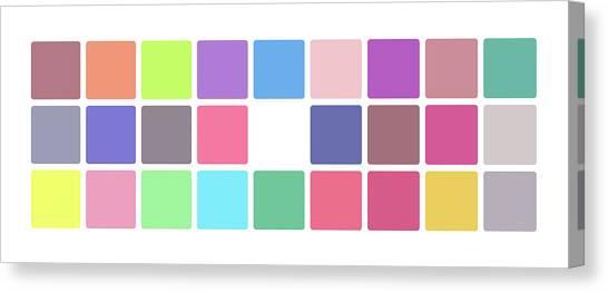 Colour Alphabet Lower Canvas Print