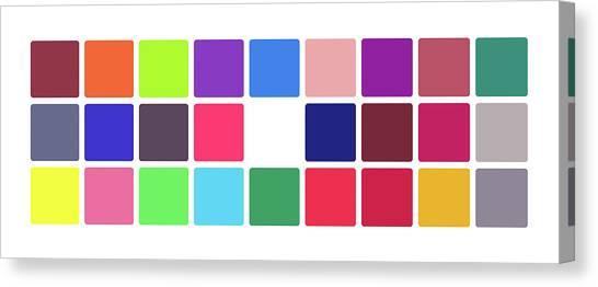 Colour Alphabet Upper Canvas Print