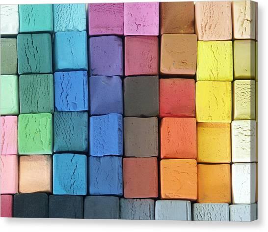 Coloured Pastels Canvas Print