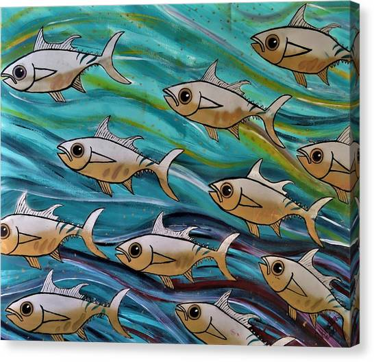 Coloured Water Fish Canvas Print