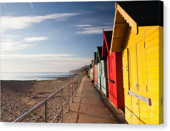 Change Canvas Print - Colourful Beach Huts On The Cromer Beach by Radomir Rezny