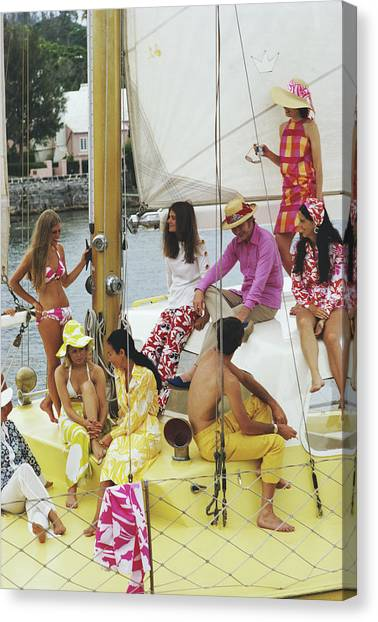 Colourful Crew Canvas Print by Slim Aarons