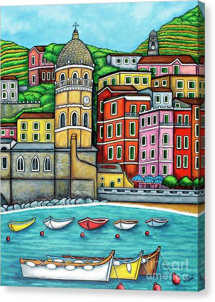 Colours Of Vernazza Canvas Print