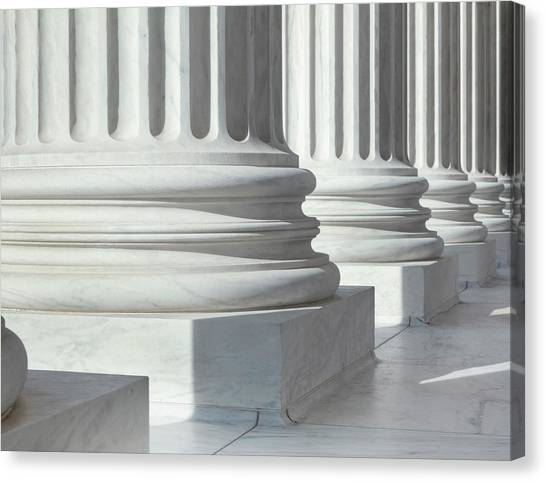 Column Outside U.s. Supreme Court Canvas Print