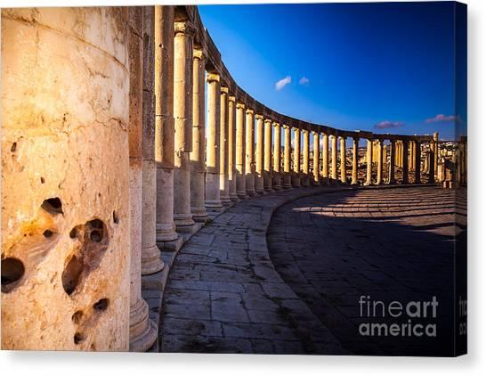 Holy Land Canvas Print - Columns  In Ancient Ruins In The by Barnuti Daniel Ioan