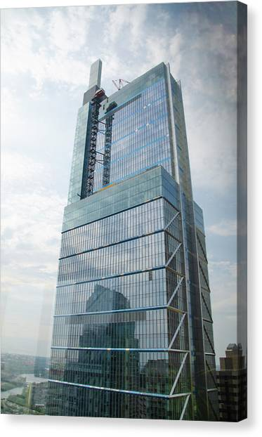 Canvas Print featuring the photograph Comcast Technology Center - Philadelphia by Bill Cannon