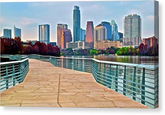 Austin Texas Canvas Print - Come To Austin Texas by Frozen in Time Fine Art Photography