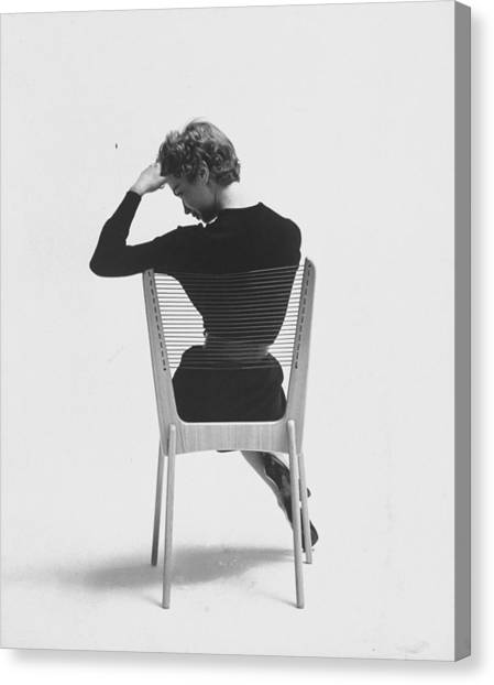 Comfort Of Chair Comes From Fact That Is Canvas Print by Yale Joel
