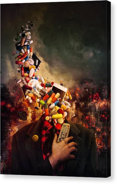 Death Canvas Print - Comfortably Numb by Mario Sanchez Nevado