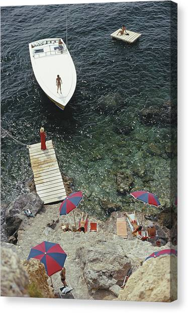 Coming Ashore Canvas Print by Slim Aarons
