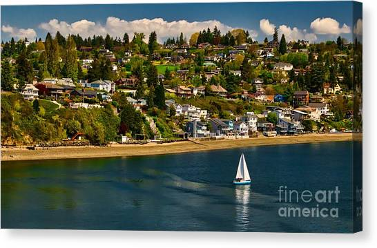 Commencement Bay,washington State Canvas Print