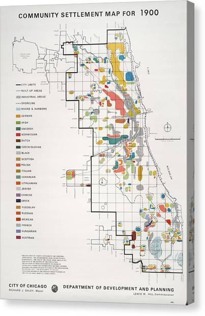 Chicago Map Canvas.Chicago Map Canvas Prints Fine Art America
