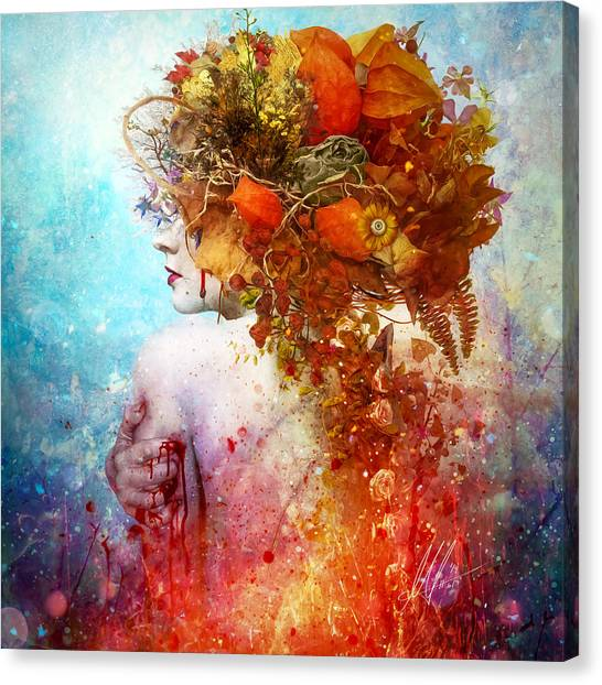 Blood Canvas Print - Compassion by Mario Sanchez Nevado