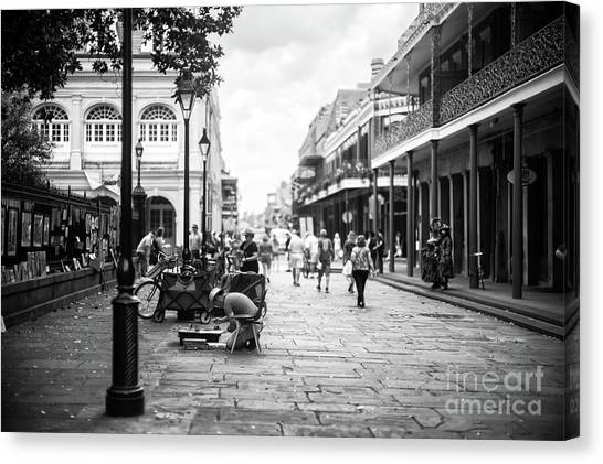 Concentration In New Orleans Canvas Print by John Rizzuto