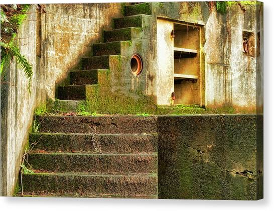 Concrete Weathered Stairway Canvas Print