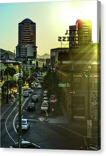 Canvas Print featuring the photograph Congress Street by Chance Kafka