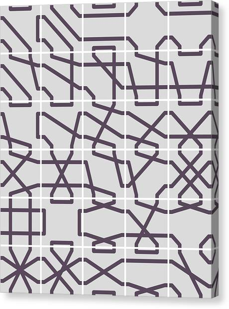 Connect 2 Mono Grid Canvas Print