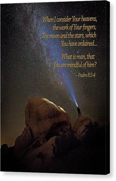 Consider The Heavens Canvas Print