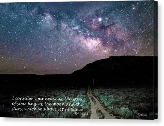 Consider Your Heavens Canvas Print