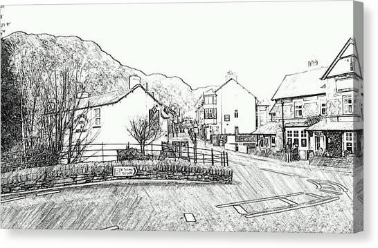 Coniston High Street Canvas Print
