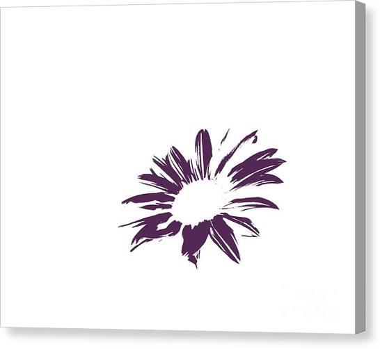 Green Camo Canvas Print - Contemporary Flower Plum  by E Lisa Bower
