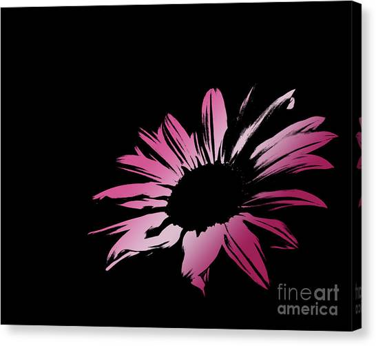 Green Camo Canvas Print - Contemporary Flower Pretty Pinks 1 by E Lisa Bower