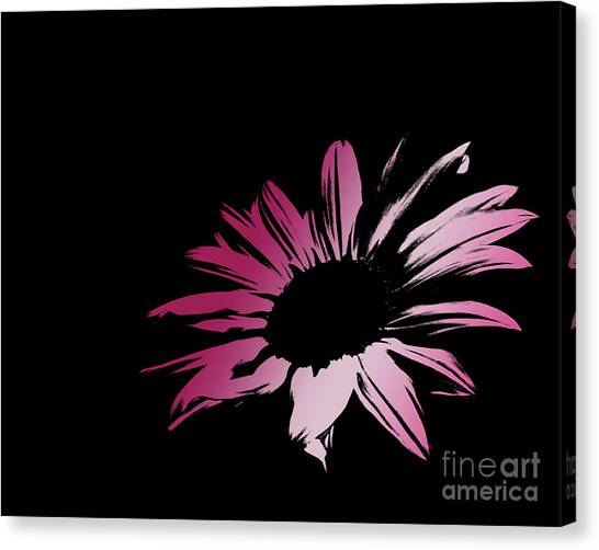 Green Camo Canvas Print - Contemporary Flower Pretty Pinks 2 by E Lisa Bower