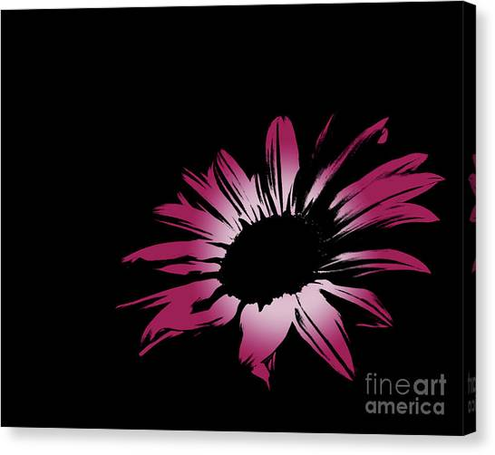 Green Camo Canvas Print - Contemporary Flower Pretty Pinks 3 by E Lisa Bower