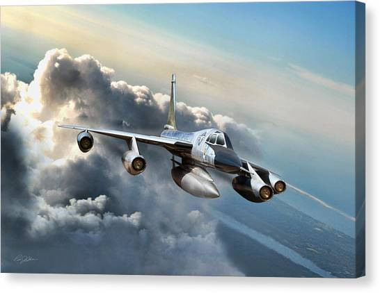 Cold War Canvas Print - Convair Classic by Peter Chilelli