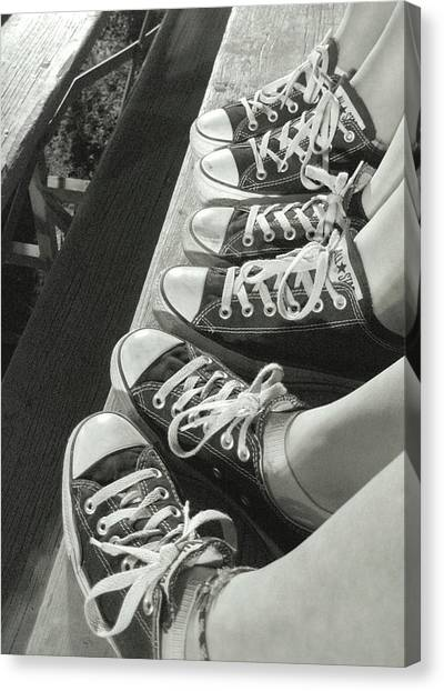 Canvas Print featuring the photograph Converse Blues by JAMART Photography