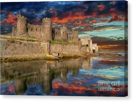 Canvas Print - Conwy Castle Sunset by Adrian Evans