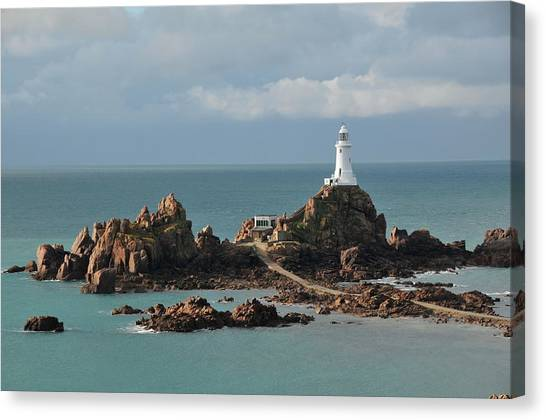 Corbiere Lighthouse,jersey Canvas Print