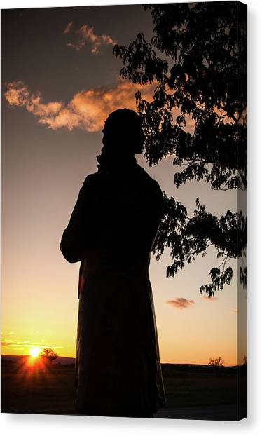 Corby At Sunset Canvas Print