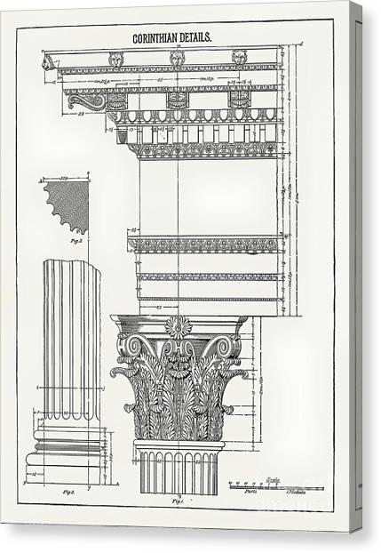 Corinthian Architecture Canvas Print