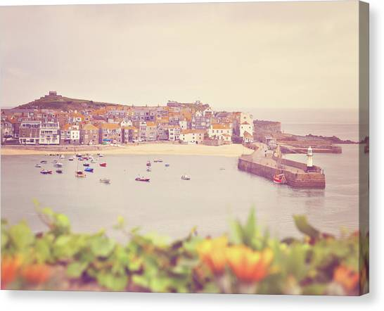 St Ives Canvas Print - Cornish Harbor by Photo - Lyn Randle