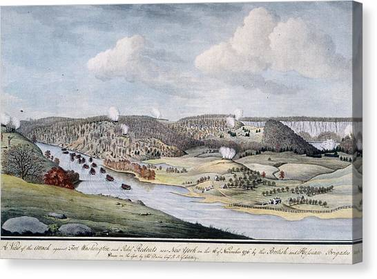 Cornwallis Attack On Fort Lee Canvas Print by Fotosearch